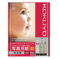 【コクヨ】 インクジェットプリンタ用紙 写真用紙(光沢・厚手) A4 100枚KJ-G13A4-100N 入数:1 ★お得な10個パック
