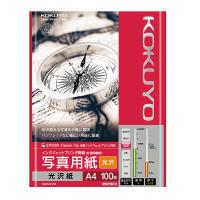 【コクヨ】 インクジェットプリンタ用紙 写真用紙(光沢) A4 100枚KJ-G14A4-100N 入数:1 ★お得な10個パック