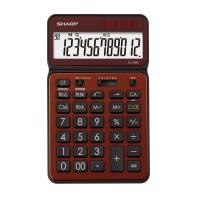 【シャープ】 シャープ カラーデザイン電卓 ブラウン 12桁 EL-VN82-TX 入数:1 ★お得な10個パック★