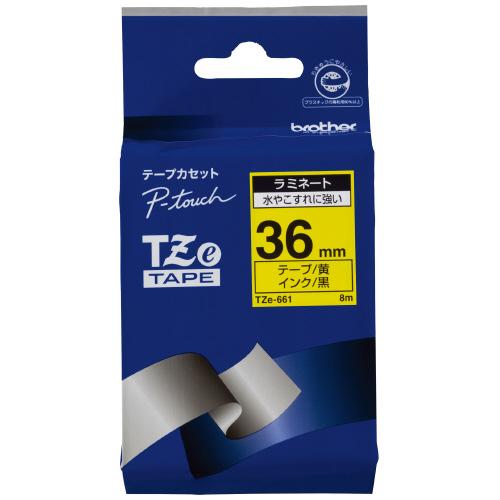 JANコード:4977766702348 ブラザーピータッチ用TZeテープカセット ファクトリーアウトレット 黄に黒文字36ミリ幅TZE-661 当店は最高な サービスを提供します