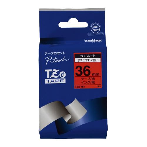 JANコード:4977766702188 ブラザーピータッチ用TZeテープカセット 2020 買い物 36ミリ幅TZE-461 赤に黒文字