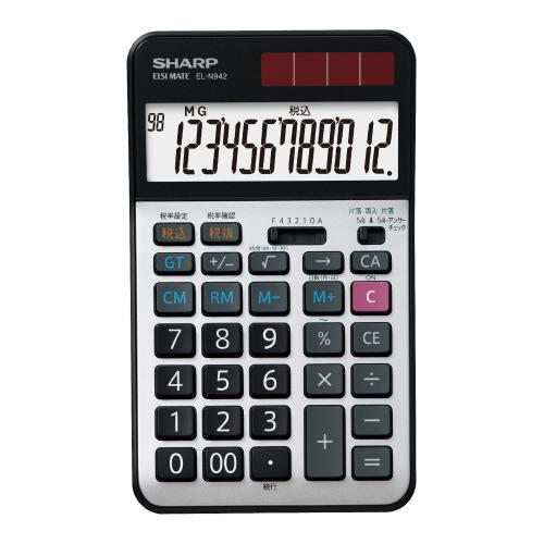 JANコード:4974019761527 シャープ 実務電卓 EL-N942X 12桁 EL-N942X