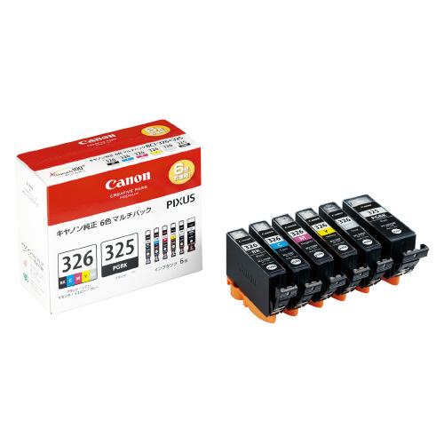 JANコード:4960999678184 キヤノンキヤノン対応純正インクタンク BCI-326 325 6MP6色パックBCI-326 お得な10個パック 低価格 6MP 店