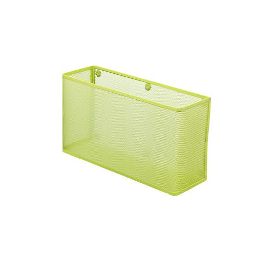 ★お得な10個パック 黄緑ワイド 材質:スチール 磁石:耐荷重3KgA7395-6 リヒトラブマグネットポケットA4横