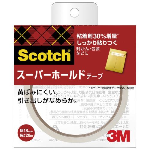 JANコード:4550309043834 安心の実績 高価 買取 強化中 スリーエム ジャパン スーパーホールドテープ大巻18mm お得な10個パック 好評受付中 幅18mm×長さ20m 700-3-18