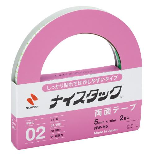 JANコード:4987167095192 ニチバン 紙両面テープ 低廉 貼れてはがせるタイプ NW-H5 有名な 5mm×18m お得な10個パック