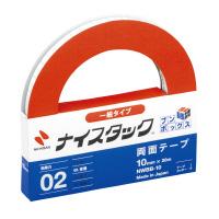【ニチバン】 ナイスタックブンボックス 再生紙両面テープ10mmx20m12巻入 NWBB-10 入数:1 ★お得な10個パック★