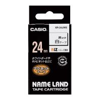 【カシオ計算機】 ネームランド テープカートリッジ マグネットテープ 白に黒文字24ミリ幅 XR-24JWE 入数:1 ★お得な10個パック★