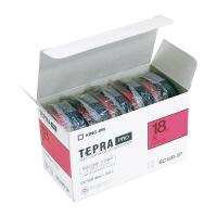 【キングジム】 テプラPROテープカートリッジ 5個入り 赤に黒文字 18mm幅×8m SC18R-5P 入数:1 ★お得な10個パック★