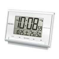 【セイコークロック】 温湿度付電波卓上クロック SQ698SSQ698S 入数:1 ★お得な10個パック