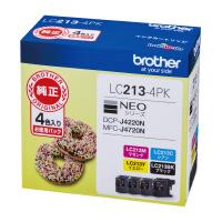 【ブラザー】 ブラザー対応純正インクカートリッジ LC213-4PK 4色パックLC213-4PK 入数:1 ★お得な10個パック