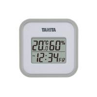 【タニタ】 デジタル温湿度計 グレー TT-558-GY 入数:1 ★お得な10個パック★