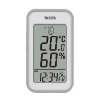 【タニタ】 デジタル温湿度計 グレー アラーム付き TT-559-GY 入数:1 ★お得な10個パック★