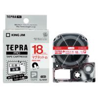 【キングジム】 テプラPROテープカートリッジ マグネットテープ 白に赤文字 18mm幅SJ18SR 入数:1 ★お得な10個パック