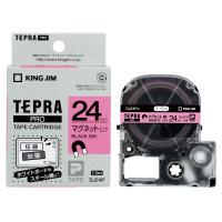 【キングジム】 テプラPROテープカートリッジ マグネットテープ ピンク黒文字24mm幅 SJ24P 入数:1 ★お得な10個パック★