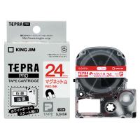 【キングジム】 テプラPROテープカートリッジ マグネットテープ 白に赤文字 24mm幅 SJ24SR 入数:1 ★お得な10個パック★