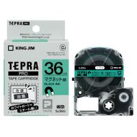 【キングジム】 テプラPROテープカートリッジ マグネットテープ 緑に黒文字 36mm幅 SJ36G 入数:1 ★お得な10個パック★