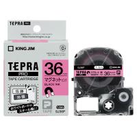 【キングジム】 テプラPROテープカートリッジ マグネットテープピンクに黒文字36mm幅 SJ36P 入数:1 ★お得な10個パック★
