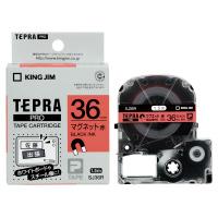 【キングジム】 テプラPROテープカートリッジ マグネットテープ 赤に黒文字 36mm幅 SJ36R 入数:1 ★お得な10個パック★