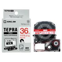 【キングジム】 テプラPROテープカートリッジ マグネットテープ 白に赤文字 36mm幅 SJ36SR 入数:1 ★お得な10個パック★