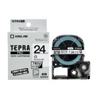 【キングジム】 テプラPROテープカートリッジ 下地がかくせる 白に黒文字 24mm幅 SS24KU 入数:1 ★お得な10個パック★