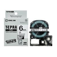 【キングジム】 テプラPROテープカートリッジ 下地がかくせる 白に黒文字 6mm幅 SS6KU 入数:1 ★お得な10個パック★