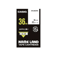 【カシオ計算機】 ネームランド テープカートリッジ 強粘着テープ 白に黒文字36mm幅 XR-36GWE 入数:1 ★お得な10個パック★