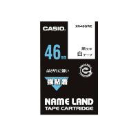 【カシオ計算機】 ネームランド テープカートリッジ 強粘着テープ 白に黒文字46mm幅 XR-46GWE 入数:1 ★お得な10個パック★