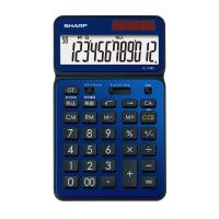 【シャープ】 シャープ カラーデザイン電卓 ディープブルー 12桁 EL-VN82-AX 入数:1 ★お得な10個パック★