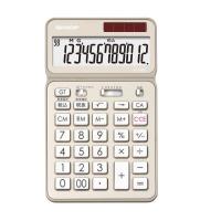 【シャープ】 シャープ カラーデザイン電卓 シャンパンゴールド 12桁 EL-VN82-NX 入数:1 ★お得な10個パック★