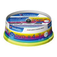 【三菱ケミカルメディア】 バーベイタム DVD-R 25枚 DHR47JP25V1 入数:1 ★お得な10個パック★