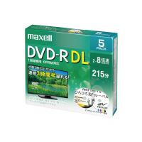 【マクセル】 マクセル 録画用DVDR二層式 ワイドホワイトプリンタブル DRD215WPE5S 入数:1 ★お得な10個パック★