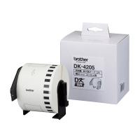 【ブラザー】 QLシリーズ用再剥離長尺テープ 幅62mm×30.48m DK-4205 DK-4205 入数:1 ★お得な10個パック★