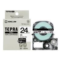 【キングジム】 テプラPROテープカートリッジ マットラベル 白に黒文字24mm幅×8m SB24S 入数:1 ★お得な10個パック★