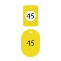 【オープン工業】 クロークチケット 41~60番 黄 BF-152-YE 入数:1 ★お得な10個パック★