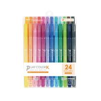 【トンボ鉛筆】 プレイカラーK 極細・太字 水性マーカー 24色セット GCF-012 入数:1 ★お得な10個パック★