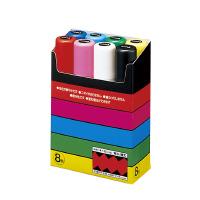 【三菱鉛筆】 ポスカ極太8色セット 黒・赤・青・緑・黄・桃・水色・白 PC17K8C 入数:1 ★お得な10個パック★