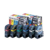 【キングジム】 テプラPROテープカートリッジ ベーシックパック(6種セット)18mm幅 SC186T 入数:1 ★お得な10個パック★