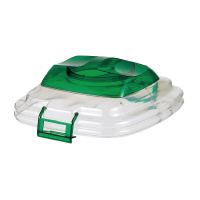 【セキスイ】 透明エコダスター45 フタ かぶせふた 緑TPFP4G 入数:1 ★お得な10個パック