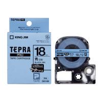 【キングジム】 テプラPROテープカートリッジ マットラベル 青に黒文字18mm幅×8m SB18B 入数:1 ★お得な10個パック★