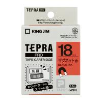 【キングジム】 テプラPROテープカートリッジ マグネットテープ 赤に黒文字 18mm幅 SJ18R 入数:1 ★お得な10個パック★