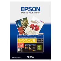 【エプソン】 インクジェット用紙 スーパーファイン紙 A3 100枚入KA3100SFR 入数:1 ★お得な10個パック