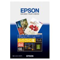 【エプソン】 インクジェット用紙 スーパーファイン紙 A3ノビ 100枚入KA3N100SFR 入数:1 ★お得な10個パック