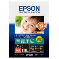 【エプソン】 インクジェット用紙 写真用紙<光沢> A4 100枚入 KA4100PSKR 入数:1 ★お得な10個パック★