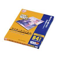 【アイリスオーヤマ】 ラミネートフィルム B4サイズ LZ-B4100 100枚入 LZ-B4100 入数:1 ★お得な10個パック★