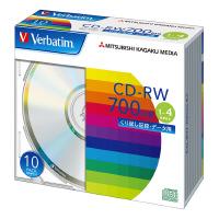 【三菱ケミカルメディア】 CD-RW 700MB 1-4倍速 1枚×10(5ミリ) レーベル/シルバー SW80QU10V1 入数:1 ★お得な10個パック★