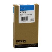 【エプソン】 エプソン対応純正インクカートリッジ ICC41A (シアン)ICC41A 入数:1 ★お得な10個パック