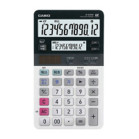 【カシオ計算機】 ツイン液晶電卓 ジャストタイプ JV-220W-N 入数:1 ★お得な10個パック★