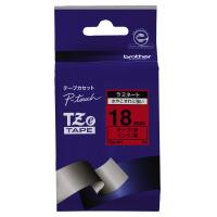 【ブラザー】 ピータッチ用TZeテープカセット 赤に黒文字18ミリ幅 TZE-441 入数:1 ★お得な10個パック★