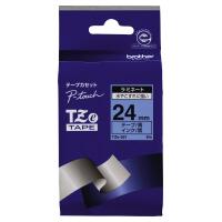 【ブラザー】 ピータッチ用TZeテープカセット 青に黒文字24ミリ幅 TZE-551 入数:1 ★お得な10個パック★